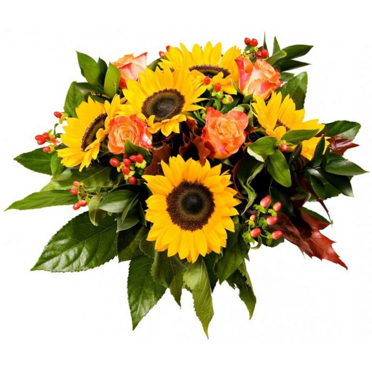 "<p>Bouquet di rose e girasoli: ""Pura Estate""</p>"